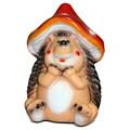 Ежик в шляпке мухомора сказочная фигура - фото 14266