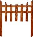Дачный деревянный забор - фото 14364