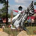 Дачная фигура Гнездо с аистами - фото 14766