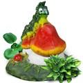 Фигура для сада Гусеница на грибочке - фото 14828