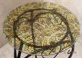 Цветочная подставка с витражом на стекле - фото 14875