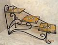 """Подставка для цветов """"Лесенка"""" с витражом - фото 14894"""
