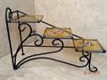 """Подставка для цветов """"Лесенка"""" с витражом - фото 14895"""