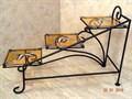 """Подставка для цветов """"Лесенка"""" с витражом - фото 14897"""
