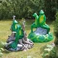 Крышка люка Две лягушки - фото 14915