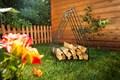 Кованая дровница для дачи - фото 15063