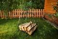 Кованая дровница для дачи - фото 15064