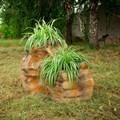 Садовая фигура кашпо