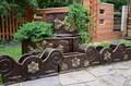 Кашпо большое с вензелями бронза - фото 15494