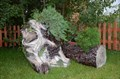 Кашпо пень цветочница - фото 15532