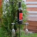 Кованая подставка под бутылки - фото 15801
