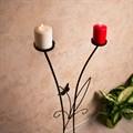 Подсвечник кованый на 2 свечи - фото 17161
