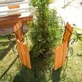 Кованый секционный заборчик с деревом (3 штакетины) - фото 17333
