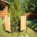 Кованый секционный заборчик с деревом (3 штакетины) - фото 17334