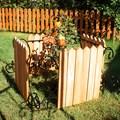 Кованый секционный забор с деревом (6 штакетин) - фото 17335