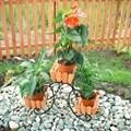 Цветочница с деревянными корзинами - фото 17389