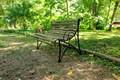 Садовая скамейка из металла