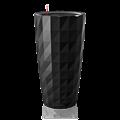 Высокое черное кашпо Lechuza