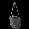 Подвесное черное кашпо Лечуза