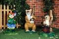 Садовый светильник Медведь - фото 22169