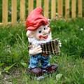 Садовая фигура гном с флейтой