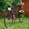Кованый велосипед для цветов