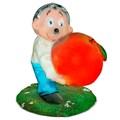 Садовая фигура Ежик с яблоком