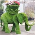 Садово-парковая фигура слон с кашпо для сада и дачи
