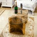 Стеклянный столик для спальни