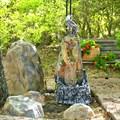 Садовый фонтан из полистоуна