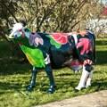 Объемная фигура корова цветная фото