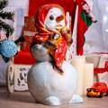 Фигура Снеговик из стеклопластика