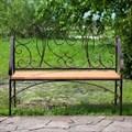 Кованая скамейка для дачи