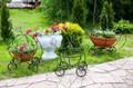 Подставка для цветов тыква-карета - фото 34503