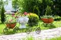 Подставка для цветов карета - фото 34509