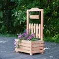 Цветочница для сада из дерева