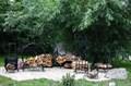 Кованые дровницы для сада и дачи