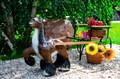 Лошадь садовая из стеклопластика