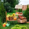 Тележки декоративные для сада