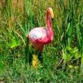 Фигура птица фламинго