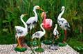 Фигурки для сада фламинго