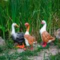 Фигурки гуси для сада