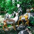 Садовые фигуры оленей