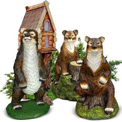 Медведи - садовые фигуры
