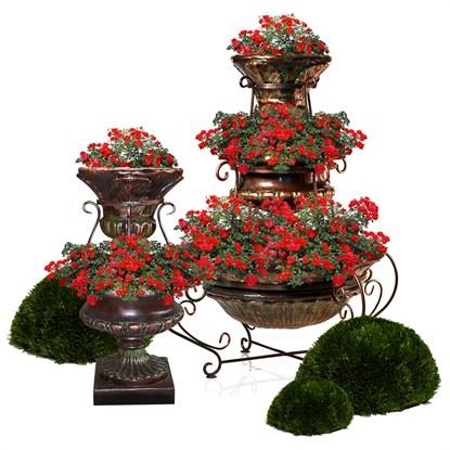 Цветочные фонтаны