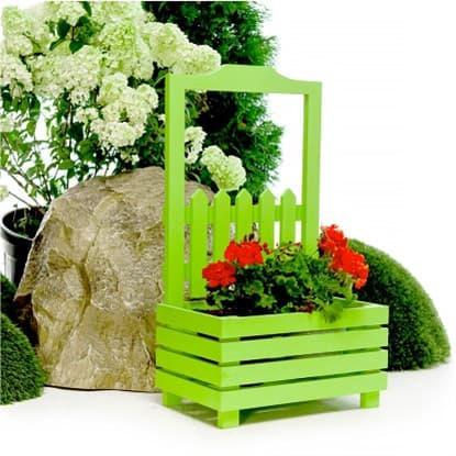 Кашпо зеленого цвета