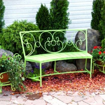 Металлические садовые диваны