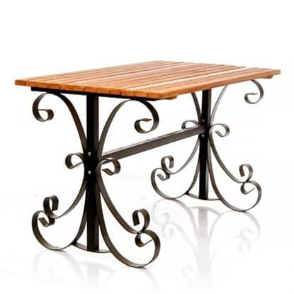 Деревянные садовые столы