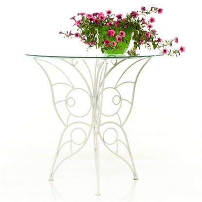 Стеклянные садовые столы