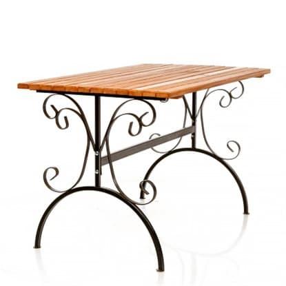 Садовые столы на металлическом каркасе